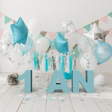 Lettres et mots en polystyrène anniversaire 1 an