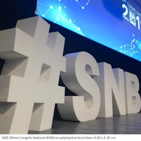 Lettres géants en polystyrène 29ème Congrès du SNB 75 ans anniversaire fête conférence évènement professionnel
