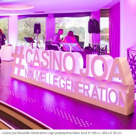 Logo géants en polystyrène # Casino Joa Nouvelle Génération évènements professionnels concert animations ouverture fête
