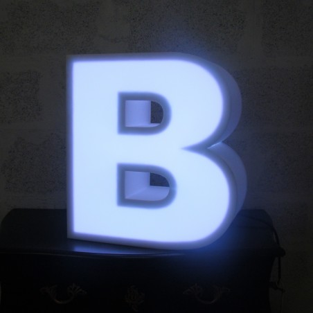 Lettres en polystyrène lumineuses led blanche