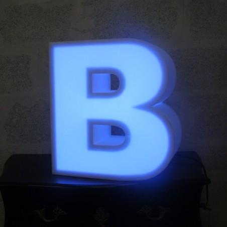 Lettres en polystyrène lumineuses led bleu roi