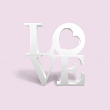 Love en polystyrène pour mariage et Saint-valentin carré