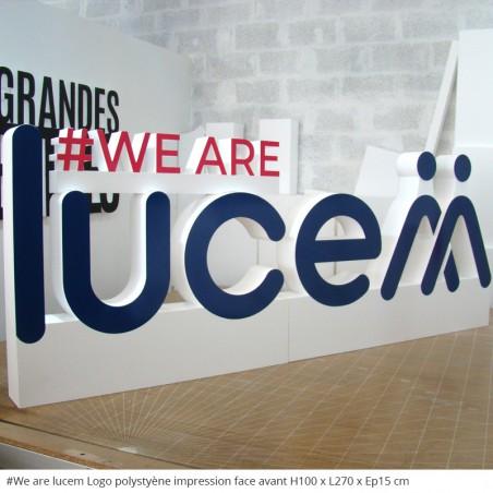 Logo # We are lucem Entreprise polystyrène géant évènement professionnel fête