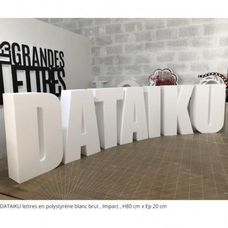 DATAIKU lettre géantes polystyrène blanc brut événement professionnel