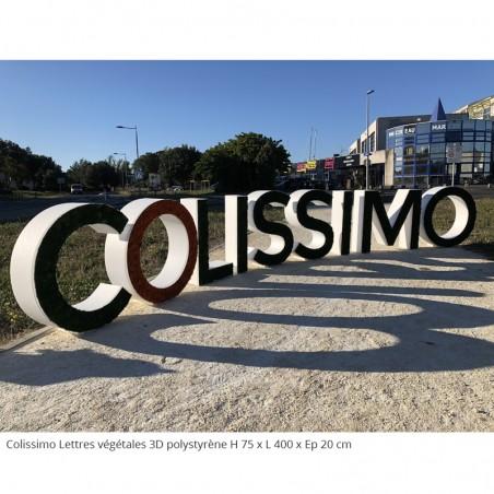 Colissimo Lettres et logo végétales 3D en polystyrène