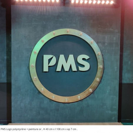 logo pms peinture or