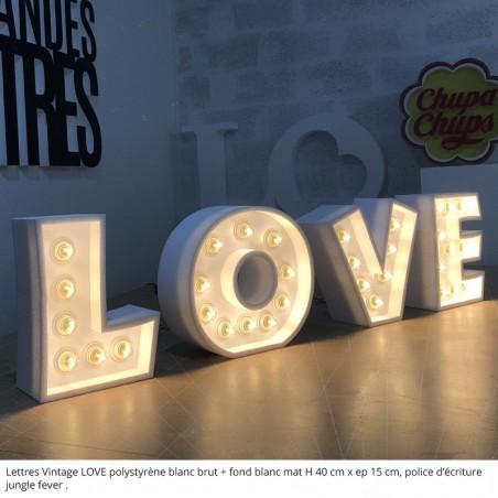love lettres vintage lumineuse ampoules leds 24v