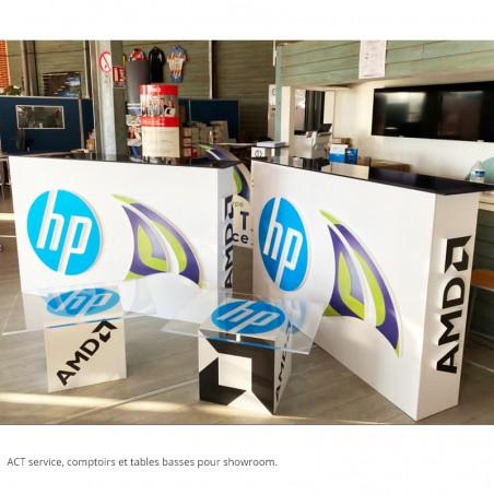 table basse et comptoir act service impression numérique