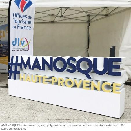 #manosque haute Provence , logo polystyrène , peinture extérieure