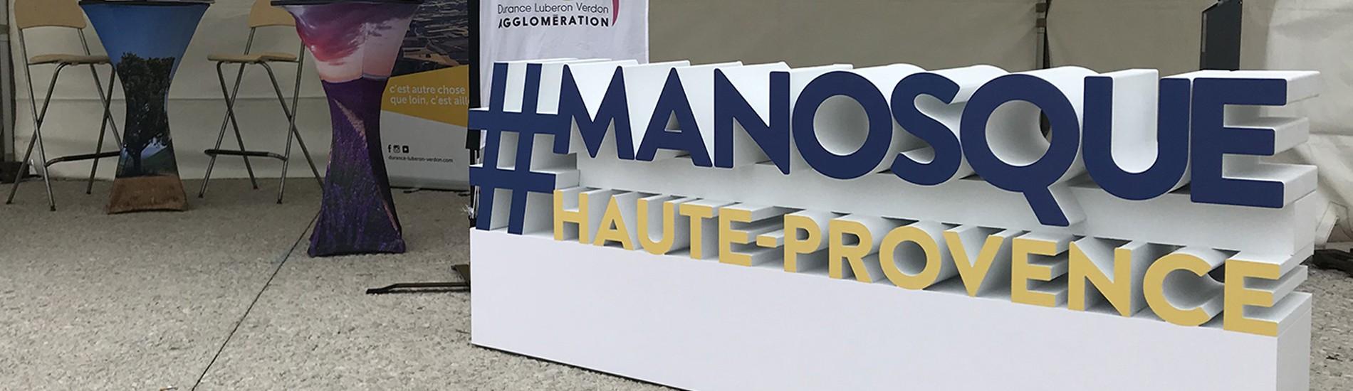 Les Grandes Lettres - Logo Polystyrène Manoque