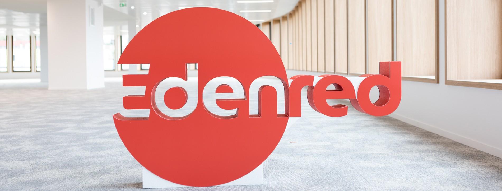 Edenred logo polystyrène avec impression numérique + peinture H 90cm x L 150cm ep 15cm